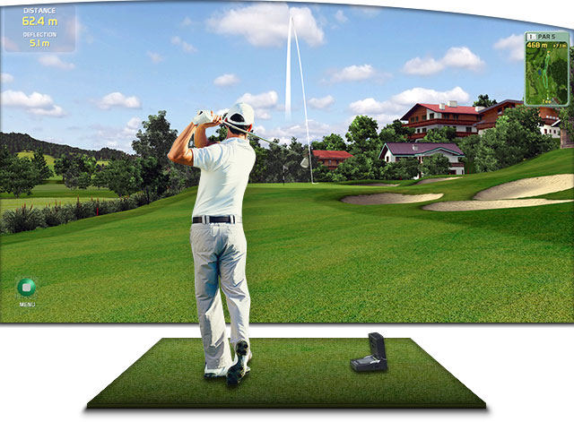 3d golf simulator for gc2 golfpro launchpad creative golf 3d. Black Bedroom Furniture Sets. Home Design Ideas